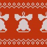 De textuurklokken van Jersey van het Kerstmisontwerp Royalty-vrije Stock Foto