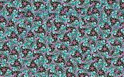 De textuurontwerp van het bloempatroon op naadloze doek, stof, backgrou Royalty-vrije Stock Foto