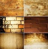 De textuurreeks van Grunge Stock Afbeelding