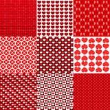 De textuurreeks van het hartpatroon Royalty-vrije Stock Afbeelding