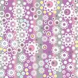 De textuurrug van het lapwerk retro verticale geometrische bloemenpatroon Stock Afbeeldingen