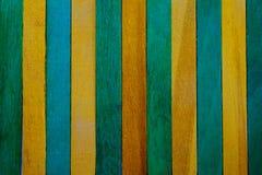 De thème jaune de cru fond en bois approximatif vertical de texture de cloison de séparation et vert faites écrire un certain esp image stock
