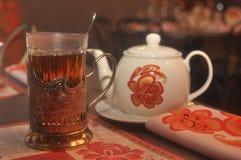 De thé toujours la vie russe Image libre de droits