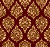 De Thaise achtergrond van het bloem oude naadloze patroon stock illustratie