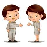 De Thaise ambtenaar nodigt uit Stock Afbeelding