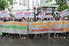 De arbeiders protesteren royalty-vrije stock afbeeldingen