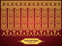 De Thaise Art Background Thai-vector van het kunstpatroon Royalty-vrije Stock Afbeelding