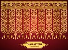 De Thaise Art Background Thai-vector van het kunstpatroon Royalty-vrije Stock Afbeelding