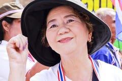 De Thaise burgerverzameling steunt Suthep Thaugsuban Stock Foto's