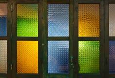 De Thaise deur van het stijl kleurrijke glas Royalty-vrije Stock Foto