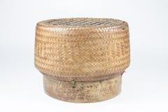 De Thaise doos van de stijl Houten rijst Stock Afbeelding