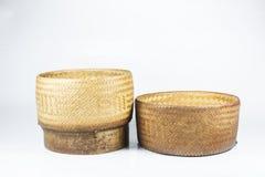 De Thaise doos van de stijl Houten rijst Royalty-vrije Stock Afbeeldingen