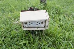 De Thaise elektrostopcontactdozen worden opgezet in de plastic doos, pow Royalty-vrije Stock Foto