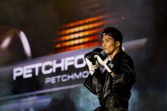 De Thaise kampioen Petchmonkong Petchfocus van Muay stock foto
