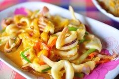 De Thaise Kerrie van de Pijlinktvis van het Voedsel Kruidige Royalty-vrije Stock Afbeelding