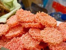 De Thaise Knapperige Rijst, Thaise rijstcracker, sluit omhoog royalty-vrije stock afbeelding