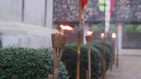 De Thaise lantaarn van de lannaolie stock footage