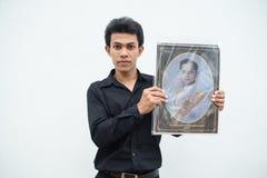 De Thaise mensen treuren over de nalating van Koning Rama 9 Royalty-vrije Stock Fotografie