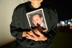 De Thaise mensen treuren over de nalating van Koning Rama 9 Royalty-vrije Stock Afbeeldingen