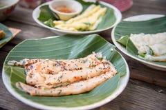 De Thaise naam van het voedselrecept is Stock Foto