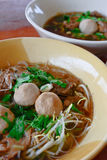 De Thaise noedel van het stijlrundvlees stock afbeeldingen