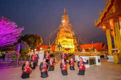 De Thaise noordoostelijke traditionele dans van Phutai Stock Afbeelding