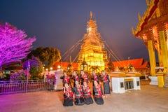 De Thaise noordoostelijke traditionele dans van Phutai Stock Fotografie