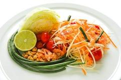 De Thaise salade van de Papaja Royalty-vrije Stock Foto