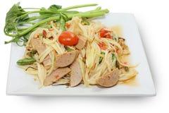 De Thaise salade van de voedselpapaja Stock Fotografie