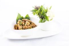 De Thaise salade van het keuken kruidige varkensvlees Royalty-vrije Stock Afbeeldingen