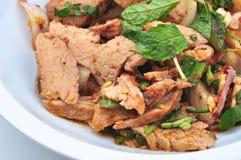 De Thaise Salade van het Varkensvlees Royalty-vrije Stock Afbeelding