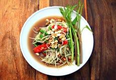 De Thaise salade van de Papaja royalty-vrije stock foto's