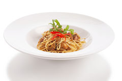 De Thaise spaghetti van de stijlfusie Stock Foto's