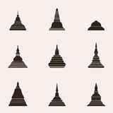 De Thaise Stijl van boeddhismestupa - Vector stock illustratie