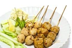 De Thaise Stijl van de Bal van het vlees. Stock Afbeelding