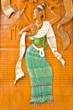De Thaise stijl van het houtsnijwerk Stock Afbeeldingen