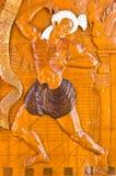 De Thaise stijl van het houtsnijwerk Stock Afbeelding