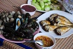 De Thaise stijl van zeevruchten Royalty-vrije Stock Afbeelding