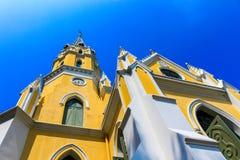 De Thaise tempel bouwde gotische stijl in die dichtbij Klappa wordt gevestigd in paleis Stock Foto's