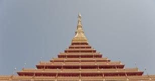 De Thaise tempel khonkaen binnen provincie, Thailand Stock Foto