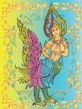 De Thaise tempel van de kinareemuurschildering   Royalty-vrije Stock Afbeelding