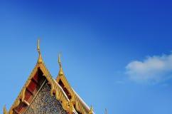 De Thaise Tempel verfraait Dak Stock Afbeelding