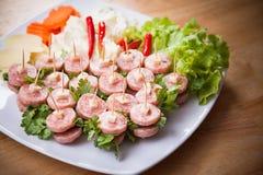De Thaise traditionele Sandwich van Nham van het fusievoedsel royalty-vrije stock afbeelding