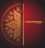 De Thaise vector van patroonlijnen Royalty-vrije Stock Afbeelding