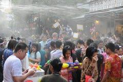 De Thaise Vieringen van het Nieuwjaar in Bangkok Stock Foto's