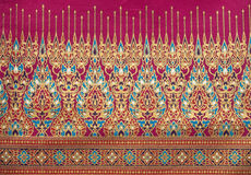 De Thaise Zijde van de stijl van het patroon Stock Foto