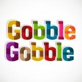 De thanksgiving dayviering met slokt tekst op Royalty-vrije Stock Foto's