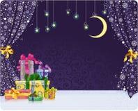 De theatrale Achtergrond van Kerstmis Royalty-vrije Stock Afbeeldingen