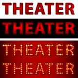 De theatrale Tekst van het Theater van Lichten Royalty-vrije Stock Afbeeldingen