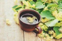 De thee en de bloemen van de linde Royalty-vrije Stock Afbeelding